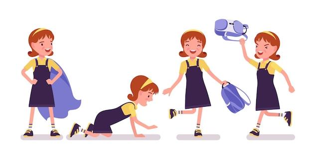 Schoolgirl having fun after school