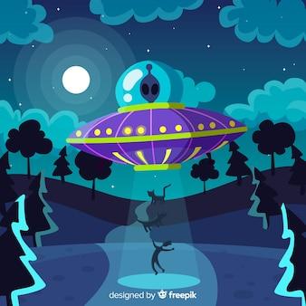 Sci-fi abduction background