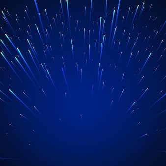Sci-fi abstract background. stars in dynamic on blue background.  illustration