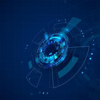 Научно-фантастический киберпространство абстрактный фон технологии