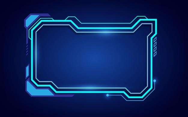 Sci fiフレームサイバーパターンデザイン