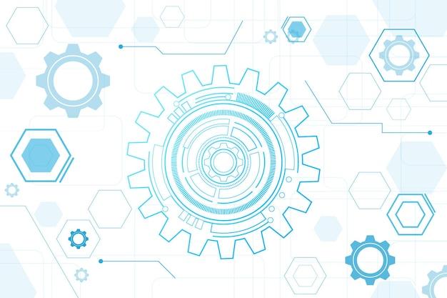 Научно-фантастический футуристический пользовательский интерфейс hud технология абстрактный фон векторные иллюстрации