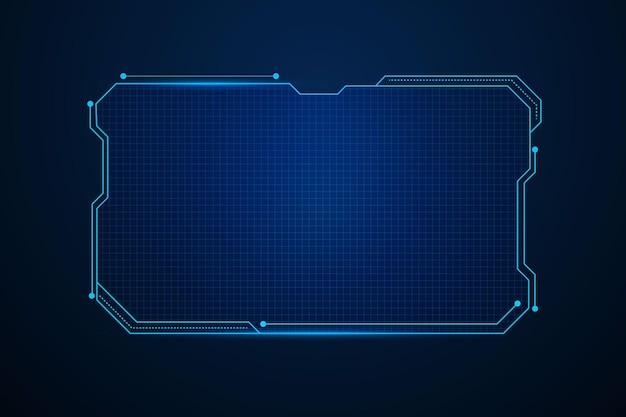 Sci fi futuristic user interface, hud template frame design, technology abstract background