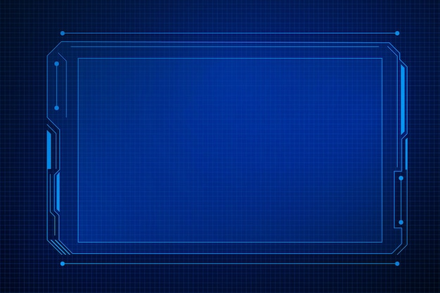공상 과학 미래의 사용자 인터페이스, hud 템플릿 프레임 디자인, 기술 추상적 인 배경