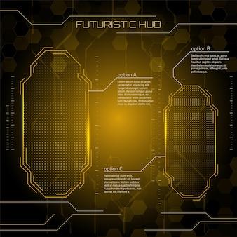 サイエンスフィクションの未来的なユーザーインターフェイスベクトル図