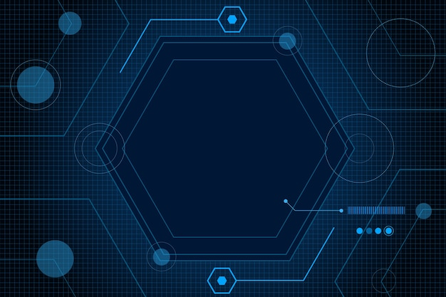 Sci fi hexagonal futuristic pattern, innovation future technology background