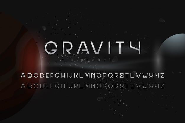 Sci-fi outer space theme alphabet font set