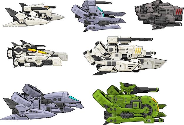 Sci-fi space shooter ships