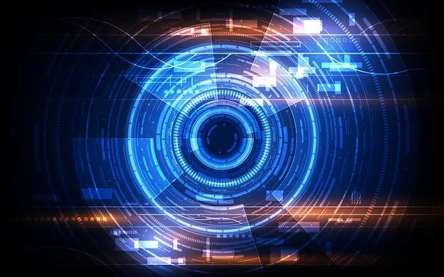 Sci fiハイテクサイバー未来的なデザインコンセプトの背景