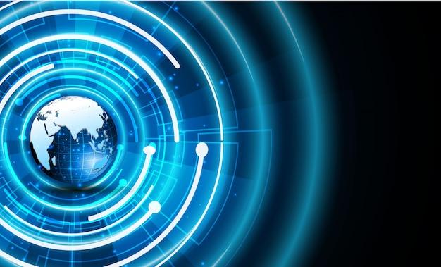 공상 과학 기술 사이버 미래 지향적 인 디자인 컨셉 배경