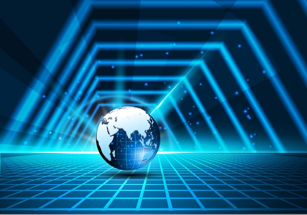 Sci fi tech cyber futuristic design concept background