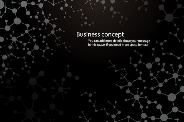 Science background, black molecule background