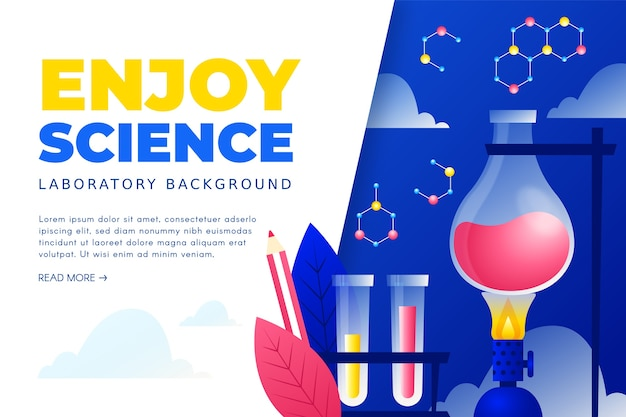 Science background with molecules and test tubes