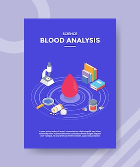 Science blood analysis flyer template