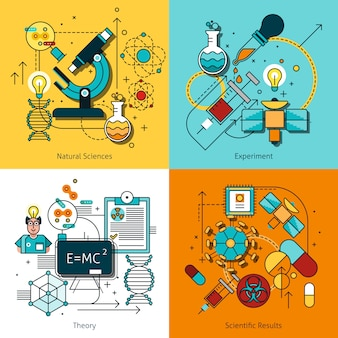 Science concept line vector image