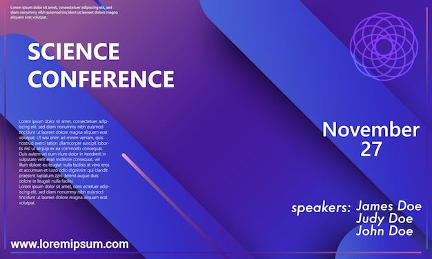 Science conference  poster template