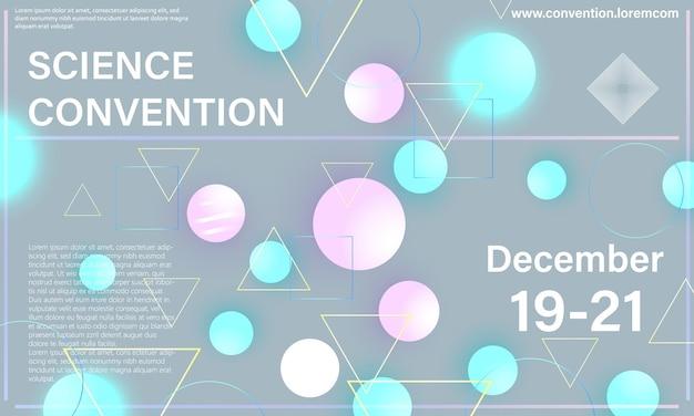 Научная конвенция. шаблон оформления конференции. деловой фон.