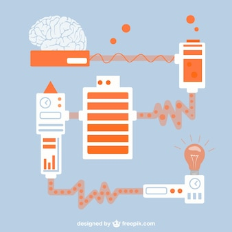 Science creative idea vector