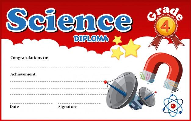 Science diploma certificate template