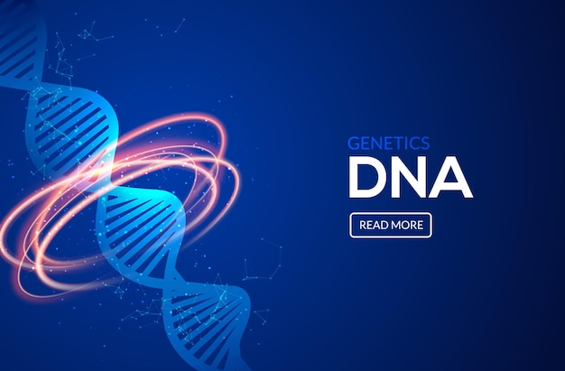 Science dna icon medical innovation concept background vector design. medicine technology genetic research.