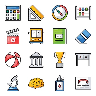Science and education icons pack