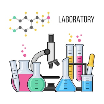 Science equipment in chemistry laboratory