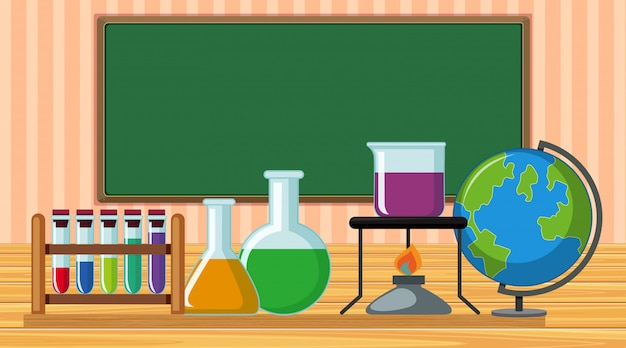 Science equipments in classroom