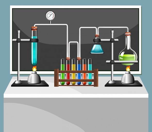 Science equipments in laboratory