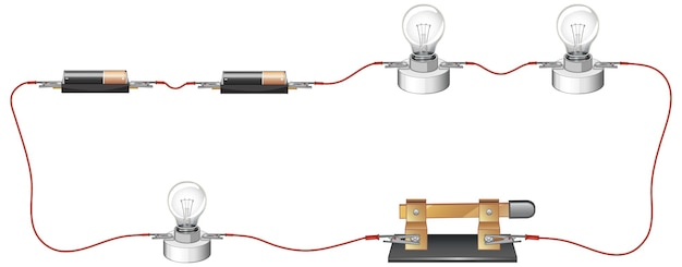 Science experiment of circuits
