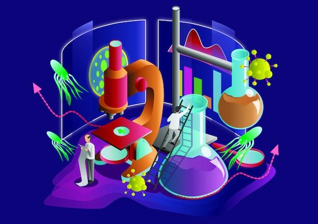 Science flat vector illustration.