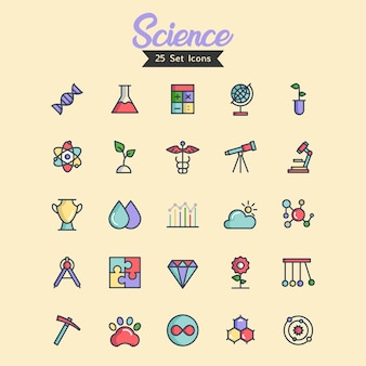 Science icon vector filled outline style