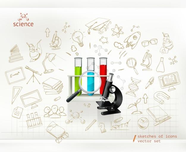 科学、インフォグラフィックベクトル