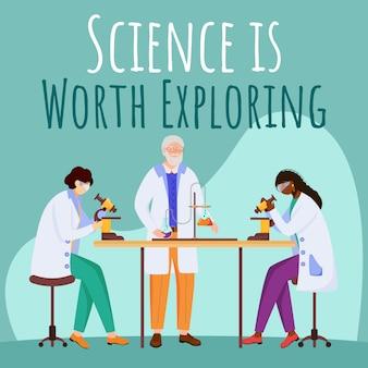 Science is worth exploring social media post mockup.
