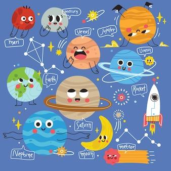 Science kids icon illustration