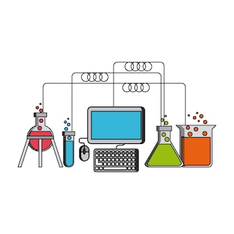 Science lab design, vector illustration eps10 graphic