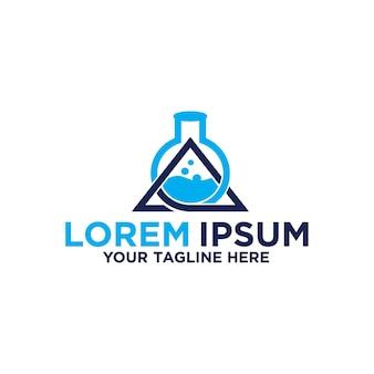 Science lab letter a logo design