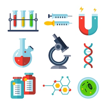 Science lab object collection design