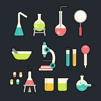 Science lab object collection