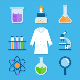 Science lab objects concept