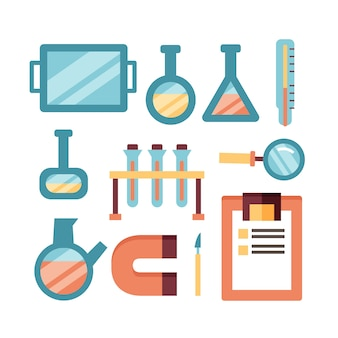 Science lab objects design