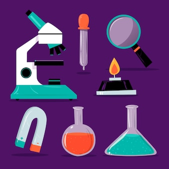 Science lab objects set