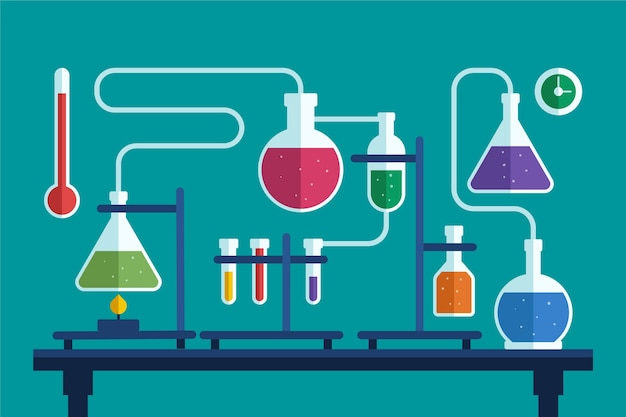 Science lab with elements