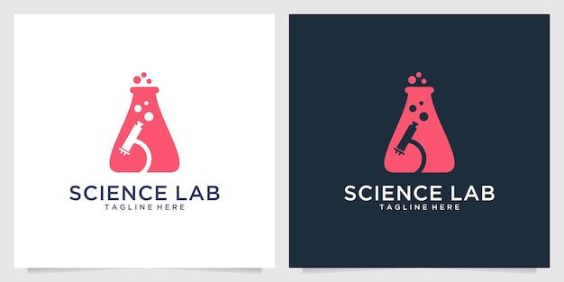 과학 실험실 로고 디자인