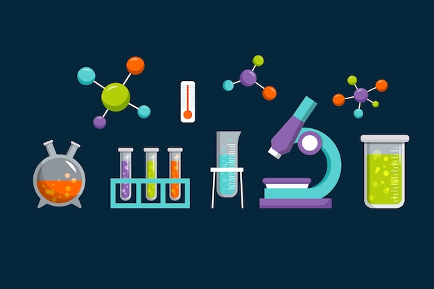 Science laboratory objects design