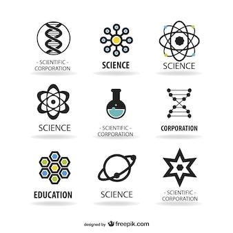 Наука логотипы шаблон