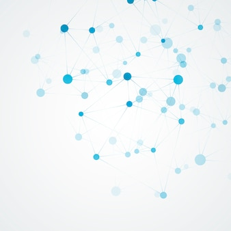 과학 분자 및 연결 구조. 추상적 인 배경