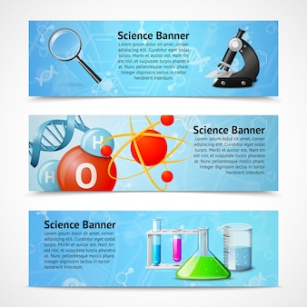 Science realistic banners
