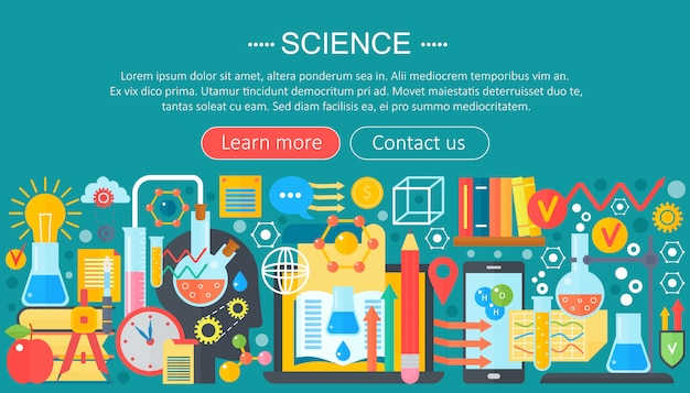 Science and research infographics template design