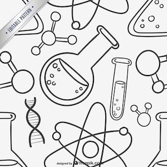 과학 낙서 배경