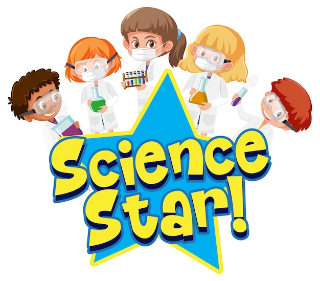 Science star with kid holding experimental science object